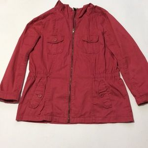 Sonoma Red Hooded Jacket